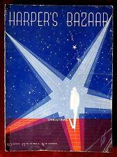 Harper's Bazaar Magazine ~ December 1934 ~ Erte Christmas Issue Art Deco
