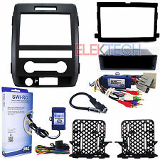 Radio Replacement & Steering Wheeel Control Interface with Dash Kit Ford F-150