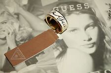 Guess Rounds Ring Gold enamel UBR30903-56 Size 7