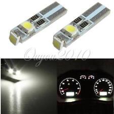 2x T5 LED 3-3528-SMD Blanc Pure Ampoule Lampe Signal Bulb Tableau de bord DC 12V