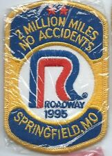 Roadway 1995 Springfield MO 2 million miles no accident driver patch 4 X 2-5/8