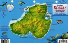 Kosrae Micronesia Map & Reef Creatures Guide Laminated Fish Card by Franko Maps