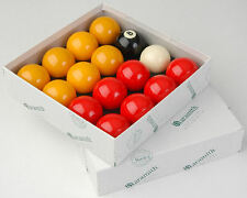 "ARAMITH 2"" STANDARD REDS + YELLOWS MATCH POOL BALLS"