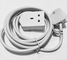Eurosonic Extension Lead 1 GANG 3M Mains Plug UK power Cable Adapter UK STANDARD