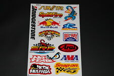 Sticker Sunstar split Fire Belray Arai ama Snapon bridgestone decal pegatinas b5