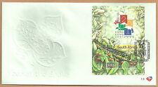 Südafrika - FDC (7.9) Briefmarkenausstellung Hong Kong 2001 Mi.1327 Bl. 83