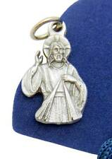 MRT Divine Mercy of Jesus 3/4 Inch Pendant Medal Silver Tone Metal w Bag Italy