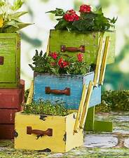 3-Tiered Stacked Wood Drawer Flower Planters Patio Garden Decor- Multi-Color