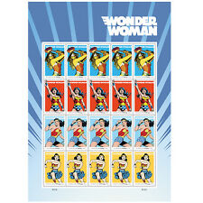 USPS New Wonder Woman pane of 20
