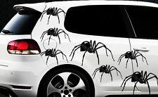 9x Spider Spinnen Autoaufkleber Seitenaufkleber Spiderman Tuning Tribal Tattoo