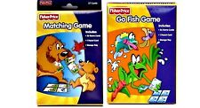 Fisher Price MATCHING + GO FISH CARD GAMES 36 Pre-K Boy Girl Gift 3+ NEW