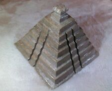 Marble or Alabaster Chichen Itza Small Statue Carved Mayan Temple Pyramid