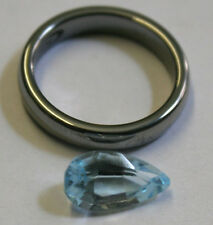 NATURAL LOOSE BLUE TOPAZ GEMSTONE 7X13MM TEAR DROP FACETED PEAR 3.5CT GEM TZ35