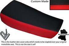 RED & BLACK CUSTOM FITS HUSQVARNA CR 250 430 500 1983 ALLY TANK LTHR SEAT COVER
