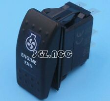 NARVA STYLE ENGINE FAN ROCKER SWITCH BLUE LED 4X4 4WD 12 VOLT ON/OFF SWITCH