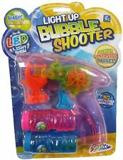 PINK LED BUBBLE GUN SHOOTER LED LIGHTS WITH 2 FREE BUBBLE MIXTURES R05-0070
