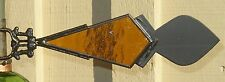 VINTAGE MUNSON WEATHER VANE ARROW KITE TAIL with AMBER GLASS and FAT FIN - Nice