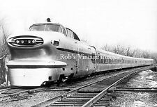 New York Central Aero rocket train photo with consist  Railroad print 1950's