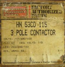 REPLACEMENT COMPONENTS DIVISION Contactor 3 Pole 40 Amp 115V HN 53CD