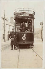 Poole Destination Tram & Crew by J.Beale, Bournemouth. Cosy Luncheon & Tea Rooms