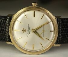 Jules Jurgensen 14K Solid Yellow Gold JXJ Hand Wind 17j Luxury Swiss Watch