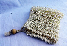Drawstring Sisal Body Scrub Soap Bag - Just Add Your Favourite Soap - New