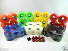 Blank 65mm Longboard Cruiser Multi Color Wheels + ABEC 7 Bearing  + Spacers