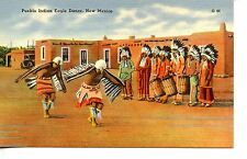Pueblo Native American Indian Eagle Dance-Drum-New Mexico-Vintage Postcard