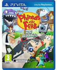 Phineas and Ferb: Day of Doofensmirtz [PlayStation Vita PSV, Region Free] NEW