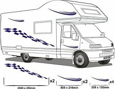 MOTORHOME VINYL GRAPHICS STICKERS DECAL SET CAMPER VAN RV CARAVAN ANY COLR set11