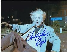 CHRISTOPHER LLOYD SIGNED 8X10 BACK TO THE FUTURE DOC BROWN AUTOGRAPH PROOF COA D