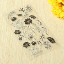 Flowers DIY Transparent Clear Silicon Stamp Sheet Cling Scrapbooking Decor Seal
