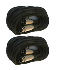 2 lot 6ft xlr male to female 3pin MIC Shielded Cable microphone audio cord pack