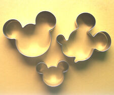 Mickey mouse face party special baking fondant cookie cutter metal mold 3pcs/set