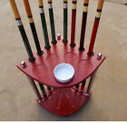 Wooden Pool Snooker Billiard 8 Cue Stand Rack Corner Table Balls Sticks Holder