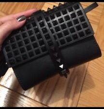 Zara Studded Black Party Clutch *rare*