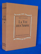 EMILE GUILLAUMIN LA VIE D'UN SIMPLE LITHOGRAPHIES ORIGINALES  A. JORDAN   SUITES