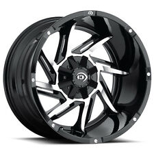 "Vision 422 Prowler 20x12 5x114.3/5x127 5x4.5""/5x5"" -51mm Black/Machine Wheel Rim"