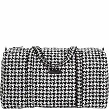 Vera Bradley Large Duffel Bag Midnight Houndstooth Alabama Gift NWT Retail $85