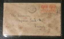 Singapore Straits Settlements cover -1940s pre War King GVI stamp slogan canc