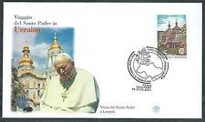 2001 VATICANO VIAGGI DEL PAPA UCRAINA LEOPOLI - SV10-2