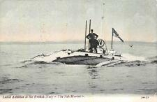 LATEST ADDITION TO THE BRITISH NAVY SUBMARINE MILITARY POSTCARD 1904