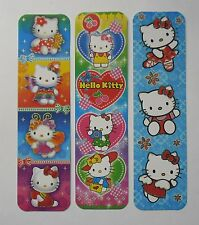 Hello Kitty 3pcs Cardboard Bookmarks 6.5'' lenght (16cm).