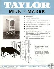 Farm Equipment Brochure - Taylor - Milk-Maker Feeder for Cattle Cow (F3694)