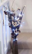 FLORA essiccati vengono visualizzati nel vaso di legno Libero (Free 20 Luci LED) Serra, LOUNGE