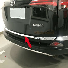 Fit For Toyota RAV4 2016 2017 Chrome Rear Trunk Lid Tailgate Bottom Cover Trim