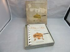 Vtg 1954 Wick & Lick Gazette of Chafing Dish Recipes. Cook book