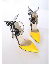 Sales Prices Women High Heels Stiletto Shoes Faux Leather Butterfly Ankle Straps