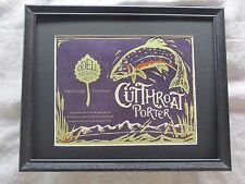 ODELL BREWING CO. CUTTHROAT PORTER  BEER SIGN  #1339