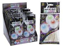3 Pack of light up LED colour changing balloons